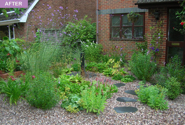Rebecca webb garden designs for Gravel garden designs